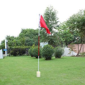 Backyard Practice Golf Hole Pole Cup Flag Stick Putting Green Flagstick Golfer