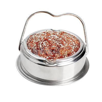 Soldering Solder Iron Tip Cleaner Nozzle Copper Wire Ball Sponge Bga Holder Set