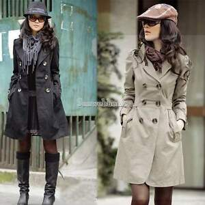 Womens-Slim-Fit-Trench-Charm-Double-breasted-Coat-Fashion-Jacket-Outwear-SH