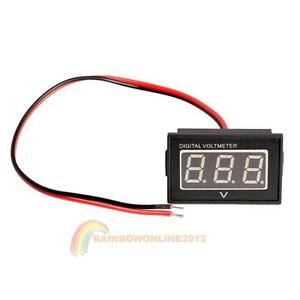 Waterproof-3-0-to-30V-Blue-LED-Panel-Meter-DC-Digital-Voltmeter-Two-wire-R1BO