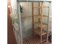large fabric wardrobe in excellent condition