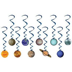 Solar system outer space party supplies hanging whirl - Hanging planets decorations ...