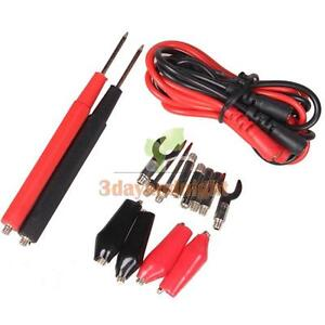 1 Set Multifunction Digital Multimeter Probe Test Lead Cable Alligator Clip NIGH