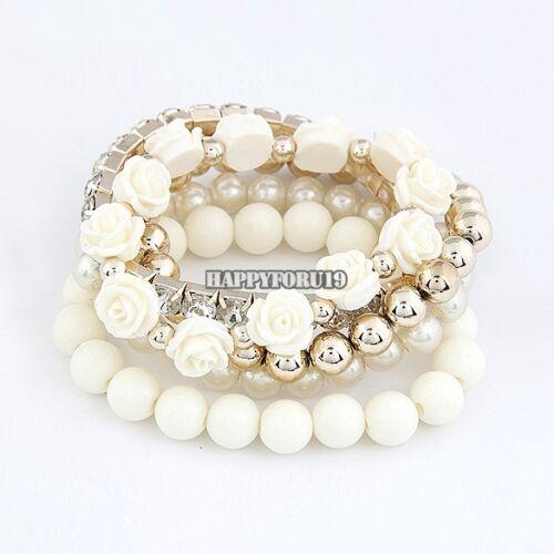 Bracelet - Fashion Women Lots Style Bracelet Beads Rhinestone Bangle Charm Cuff Jewelry hfo