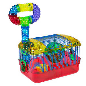 GENTLY USED HAMSTER CAGE & WATER BOTTLE!
