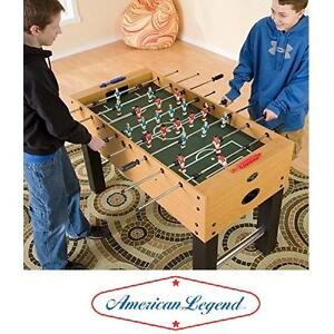 """NEW AL CHARGER FOOSBALL TABLE - 108888039 - AMERICAN LEGEND 53"""" WALNUT FINISH - TABLES GAME ROOM GAMES SOCCER ARCADE"""