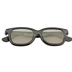 K1BO-Polarized-3D-Glasses-Black-Movie-DVD-LCD-Video-Game-Theatre-Circular