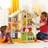 Hape Toys (Plan Toys) All-Season Doll House with Furniture