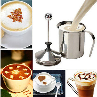 400ML Stainless Steel Double Mesh Milk Coffee ...