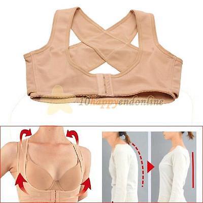 Women Adjustable Shoulder Back Posture Corrector Chest Brace Support Bra Shaper