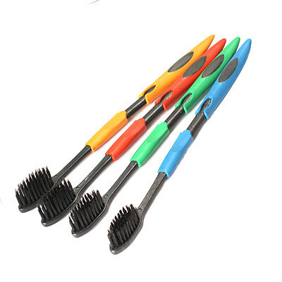 New 4pcs Soft Bamboo Charcoal Toothbrush nano Brush Oral Dental Cleanin