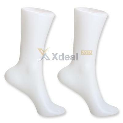 2pcs Female Foot Sock Sox Display Mold Short Stocking Mannequin White Hot Sale