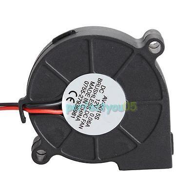 1pcs 50 X 15mm 12v Brushless Dc Blower Cooling Fan Exhaust Fan Black 15-30 Cfm