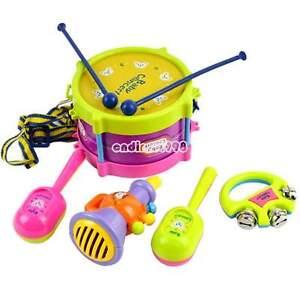NEW 5Pcs Baby Boy Girl Drum Set Musical Instruments Kids Drum Set Children Toy
