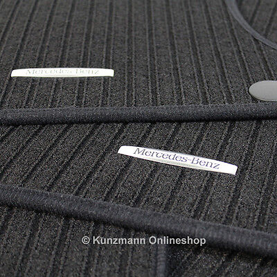 Original Mercedes Benz Fußmatten Satz Ripsmatten schwarz C-Klasse W204 S204 NEU