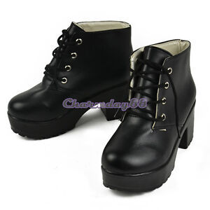 Vintage Women Ladies Sandals C1MY High Heel Platform short boots 2 Color Fashion