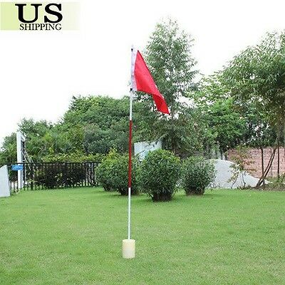 - Portable Practice Golf Hole Putting Green Flags w/ Cup Backyard Golf Flagstick
