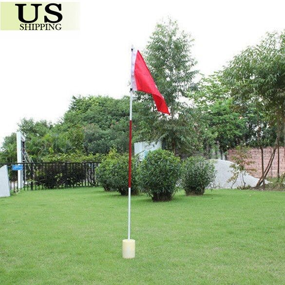 Portable Practice Golf Hole Putting Green Flags w/ Cup Backyard Golf Flagstick