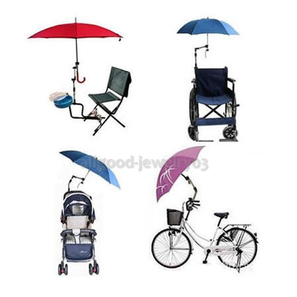 Umbrella Connector Holder for Wheelchair Bicycle Pushchair S