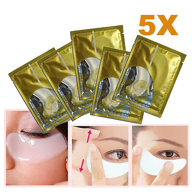 5 x Collagen Crystal Eye Mask Eyelid Patch Moisture Anti-winkle Gift