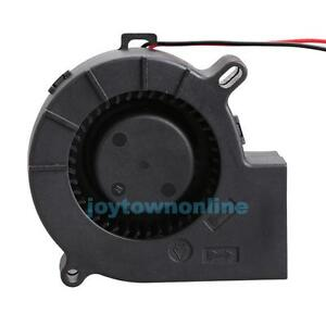 Brushless-DC-Cooling-Blower-Fan-Sleeve-bearing-7525S-12V-0-18A-75x33mm-JT1
