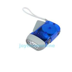 3 LED Dynamo Hand Press Charge Flashlight Torch Lamp