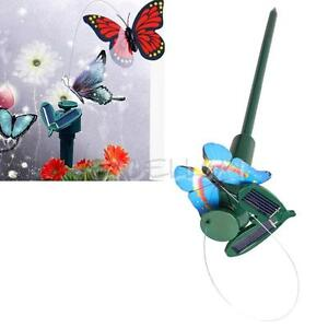 Outdoor Dancing Flying Butterfly Solar Powered Garden yard Decoration gift