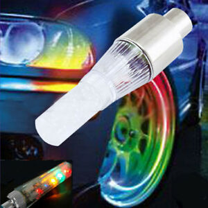 NEW BIKE BICYCLE CAR MOTORCYCLE TIRE VALVE 2 LED LAMP WHEEL