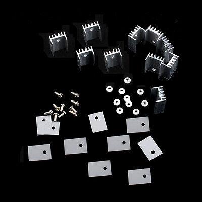 10pcs To-220 Silver Heatsink Heat Sink For Voltage Regulator Or Mosfet New K9