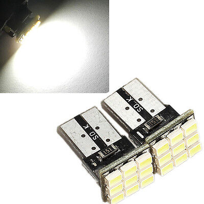 2Pcs T10 194 168 W5W 9-SMD Car White LED Light DC 12V License Plate Lamp New on Rummage
