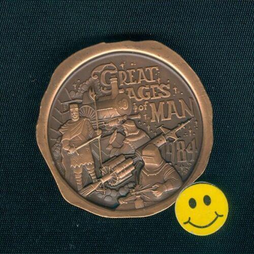 Krewe Of Caesar 1984 Train  Antique Bronze Mardi Gras Doubloon Token Coin