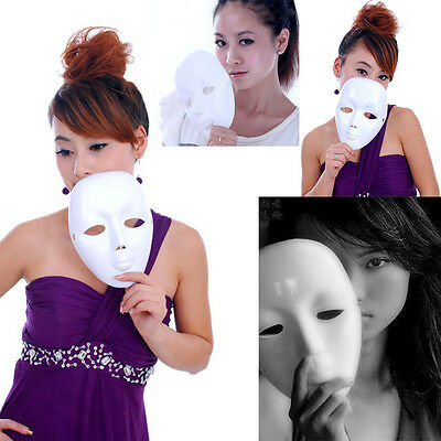 Scary White Face Halloween Masquerade DIY Mime Mask Ball Party Costume Masks - Scary Halloween Costumes Diy