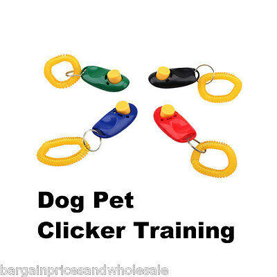 Dog and Cat Clicker Training Aid Wrist Strap