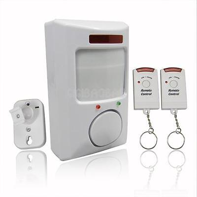 Wireless Infrared Motion Sensor Alarm Security Home Door System + Remote Control