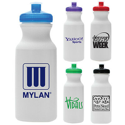 200 Custom BPA FREE Made in the USA 20 oz Bike Sport Bottles Personalized