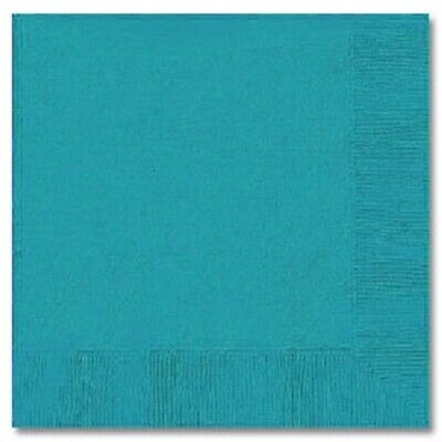 TURQUOISE (50) LUNCH DINNER PAPER NAPKINS Party Supplies!! For Any Party!  - Turquoise Party Supplies