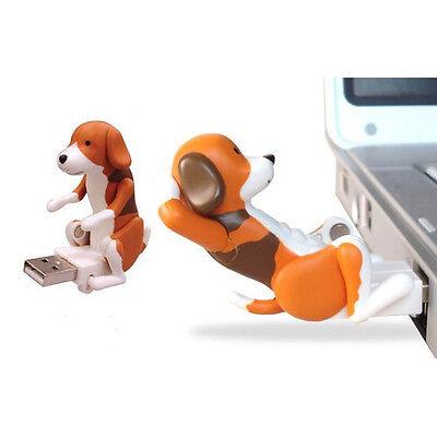 Portable Funny Cute Pet USB Humping Spot Dog Toy Christmas Gray