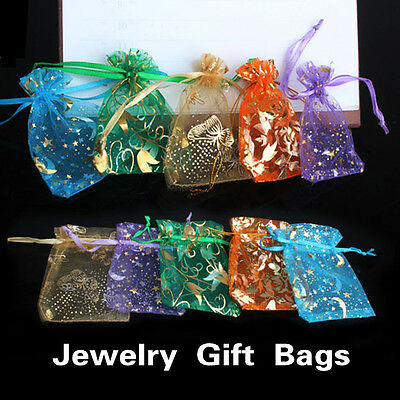 Candy Bags (50 pcs Organza Jewelry Candy Pendent Mixed Color Mini Gift Pouch Bags Wedding)
