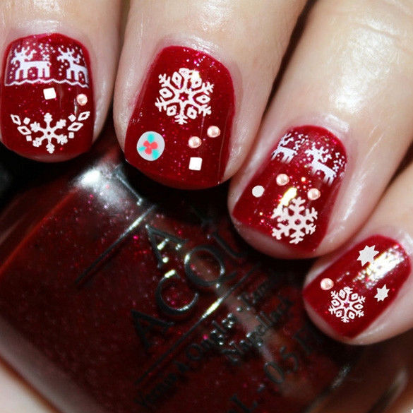 Christmas Lights Nails Pinterest: Your Guide To Christmas Nail Decorating