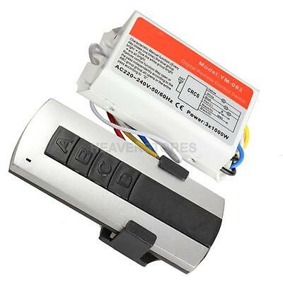 3 Channel Wireless Remote Control Digital Remote Control Switch Lightswitch hv2n