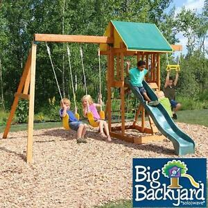 NEW BIG BACKYARD MEADOWVALE II - 134413900 - WOODEN PLAYSET PLAYGROUND PLAYSETS SWINGS SLIDE SLIDES PLAYGROUNDS SWING...