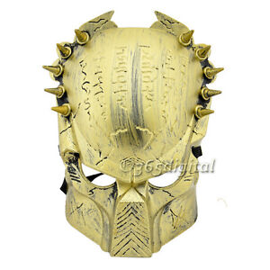 Plastic Predator Golden Mask Halloween Cosplay Costume Party Whimsy Mask 35DI
