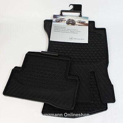 Original Mercedes-Benz Gummimatten C-Klasse W205 Fußmatten Allwettermatten NEU