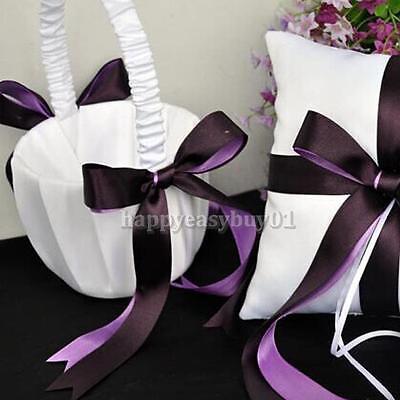 Elegant Purple Satin Bowknot Wedding Ceremony Party ...