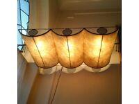 two unusual beautiful vintage designer ceiling light fittings