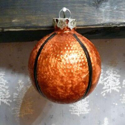 ball Ornament Basketball Sports Christmas Ornament EUC (Basketball-ornament)