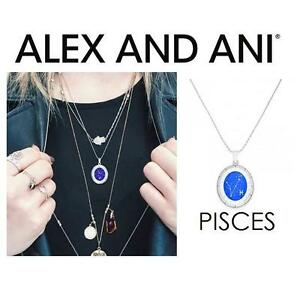 NEW ALEX AND ANI PISCES NECKLACE JEWELLERY - JEWELRY - CELESTIAL WHEEL EXPANDABLE NECKLACE - SHINY SILVER 102967654