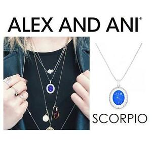 NEW ALEX AND ANI SCORPIO NECKLACE JEWELLERY - JEWELRY - CELESTIAL WHEEL EXPANDABLE NECKLACE - SHINY SILVER 102968097