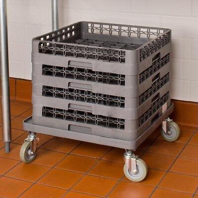 Commercial Restaurant Dishwasher Gray Dish Glass Rack Dolly Shelf Cart Full Size