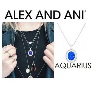 NEW ALEX AND ANI AQUARIUS NECKLACE JEWELLERY - JEWELRY - CELESTIAL WHEEL EXPANDABLE NECKLACE - SHINY SILVER 102961442